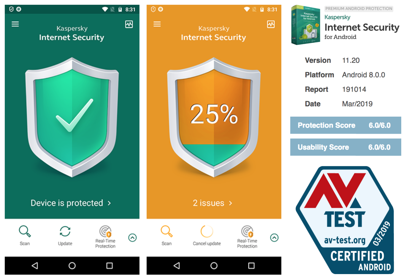 Kaspersky Internet Security for Android enables machine